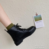 短靴黑色夏季馬丁靴女英倫風 春秋透氣新款百搭短靴復古平底機車單 麥琪