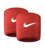 Nike Swoohs [NNN04601OS] 運動 打球 健身 單色 護腕 腕帶 吸濕 排汗 乾爽 彈性 紅
