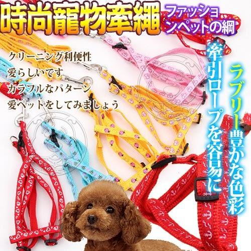 【培菓平價寵物網 】dyy》中大型犬時尚伸縮胸背寵物胸背牽繩組120cm*2.5cm款項隨機出貨