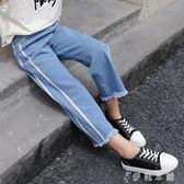牛仔褲 女童牛仔褲子兒童裝女寶寶長褲洋氣九分闊腿褲 伊鞋本鋪