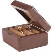 可攜式戒指盒實木質首飾盒耳釘收納盒歐式手飾品盒復古小號