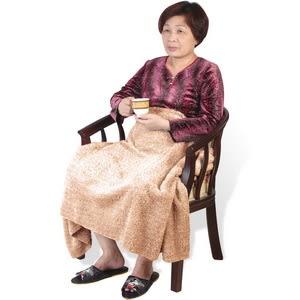 【源之氣】銀髮族極超細纖維柔軟居家/靜坐毛毯 (75*150cm)褐色 RM-10508