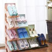 ♚MY COLOR ♚可疊加多 鞋架立體收納書櫃拼接落地桌面整理分類球鞋拖鞋【A36 】