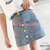 女童牛仔半身裙中大童夏季A字裙小女孩韓版兒童短裙【時尚大衣櫥】