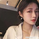 韓國東大門時尚高級感氣質耳環年新款潮設計感珍珠雙C型耳釘 奇妙商鋪
