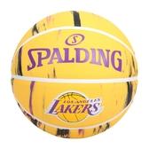 SPALDING NBA隊徽-湖人 #7籃球(7號球 室內 戶外 運動 訓練 斯伯丁 免運 ≡排汗專家≡