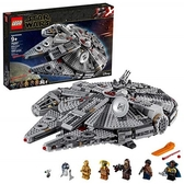 LEGO 樂高 Star Wars: The Rise of Skywalker Millennium Falcon 75257 Starship Model and Minifigures (1,351 Pieces)