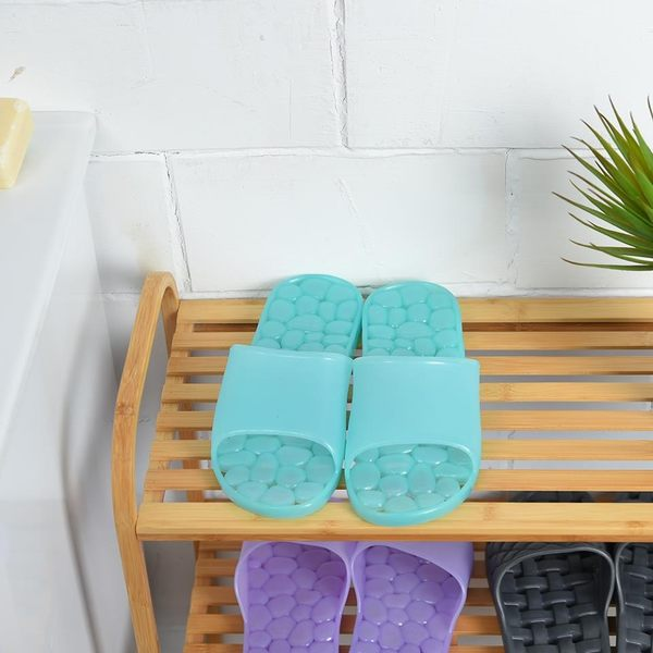 漾綠仿石浴室拖鞋-生活工場