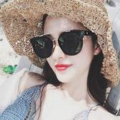 太陽鏡女新款潮圓臉顯瘦墨鏡韓國個性眼鏡JK127『樂愛居家館』