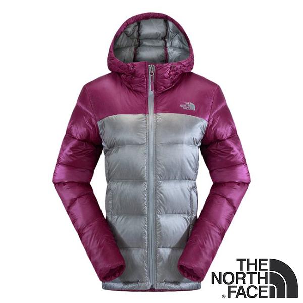 【THE NORTH FACE 美國】 女 800 fill 羽絨兜帽外套 (中灰/酒紅紫) NF00CTV8 防潑水 800蓬鬆度 輕量
