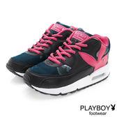 PLAYBOY 玩酷宣言 渲染印花氣墊運動鞋-黑桃