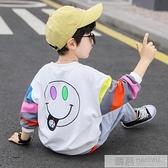 男童秋裝衛衣兒童t恤長袖2020新款洋氣純棉上衣打底衫春秋體恤潮  女神購物節