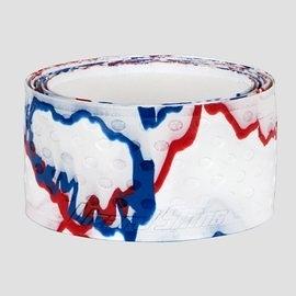「野球魂中壢店」--「Lizard Skins」蜥蜴皮球棒握把布(白×寶藍×紅,厚度=1.1mm)