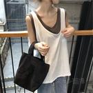 網紅ins無袖T恤女夏韓國ulzzang假兩件短袖韓版ins潮學生寬鬆上衣 夏季狂歡