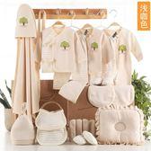 保暖套裝嬰兒衣服棉質新生兒禮盒套裝0-3個月6春秋冬季寶寶用品24件套    SQ12177『毛菇小象』
