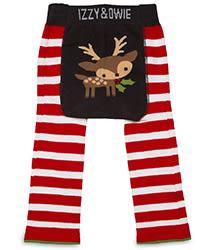 美國Izzy & Owie創意個性童裝 花漾彈性屁屁褲-紅白麋鹿