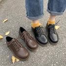 小皮鞋女韓版百搭冬天學生英倫風復古配裙子軟皮秋季日繫單鞋