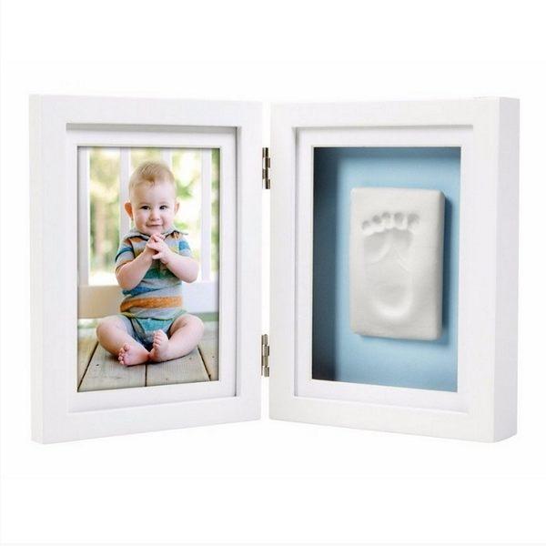 彌月禮相框 Pearhead 新生寶寶掌印桌上紀念相框 - 白色 PH63004