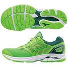美津濃MIZUNO男慢跑鞋 中高足弓適用 WAVE RIDER 21 (鮮綠X綠)J1GC180341【 胖媛的店 】