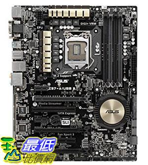 [105美國直購] ASUS ATX 主板 DDR3 2600 LGA 1150 Motherboards Z97-A/USB 3.1  B00TXBP1NS