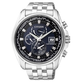 CITIZEN GENTS 時尚風格光動能電波時計腕錶/藍黑/43mm/AT9031-52L