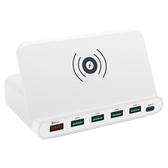 多口usb充電頭XR蘋果iphonex無線充電器8P安卓閃充快速多功能插頭 莎瓦迪卡
