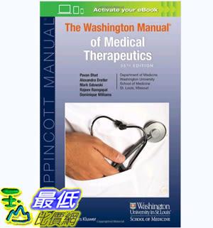 [106美國暢銷醫學書籍] The Washington Manual of Medical Therapeutics (Lippincott Manual Series)