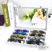 冰花絨有蓋玻璃眼鏡箱太陽鏡收納箱眼鏡收納盒眼鏡收藏箱眼鏡展示 自由角落