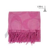 【巴黎站二手名牌專賣店】*現貨*COACH 真品*F77673 粉色滿版大C字毛料圍巾 (160x52)