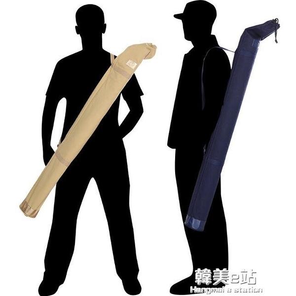 炫鯊釣魚傘袋帆布竿包桿袋漁具垂釣防水收納袋軟質可摺疊傘袋傘包ATF 韓美e站