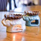蠟燭香薰燈精油爐陶瓷大容量美容院臥室內熏香爐送蠟燭托