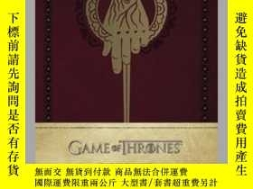 二手書博民逛書店Game罕見of Thrones: Hand of the King Hardcover Ruled Journa