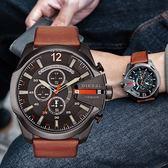 DIESEL 大型標誌粗曠時尚腕錶 DZ4343 熱賣中!