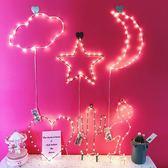 韓國INS軟妹愛心火烈鳥小夜燈LED裝飾房間佈置臥室宿舍墻面拍照燈 維多原創 免運
