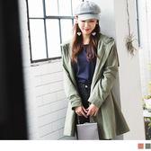 《EA2133》高含棉後蝴蝶結綁帶造型長版連帽外套 OrangeBear