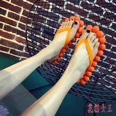 創意人字拖鞋 女夏防滑室內2019個性可愛按摩韓版學生家用甜美風 QX12293 【花貓女王】