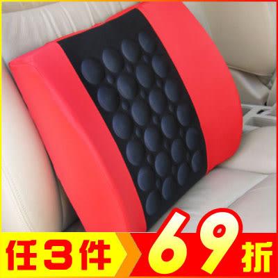 汽車坐椅電動按摩腰靠墊 (顏色隨機)【AE10346】大創意生活百貨