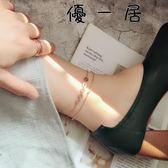 韓版玫瑰金雙層經典鈦鋼腳鍊【YYJ-3892】