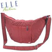 Backbager 背包族【ELLE Active】都會休閒彎月包/側背包/隨身包/斜背包/外出包_紅色