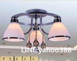 簡約玻璃吸頂大吊燈飾 歐式led節能 餐客廳/書房臥室用