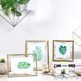 北歐ins金屬玻璃幾何相框創意擺件照片裝飾畢業禮物  優家小鋪igo