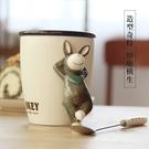 馬克杯 3D立體創意個性帶蓋卡通動物陶瓷杯馬克杯子可愛辦公室咖啡喝水杯