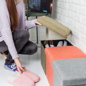 收納凳 椅凳 收納椅-27L【樂嫚妮】折疊收納箱 儲物凳 腳凳 穿鞋椅收納凳30X3