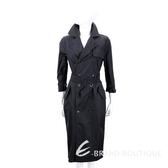 Max Mara 雙排釦黑色洋裝式風衣 1830096-01