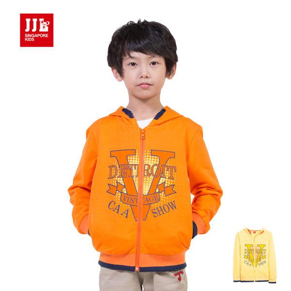 JJLKIDS 男童 經典印花字母拉鍊外套(二色)