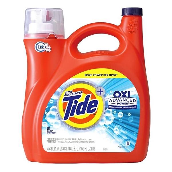 Tide 汰漬 OXI亮白護色洗衣精 4.43公升 (2包裝)