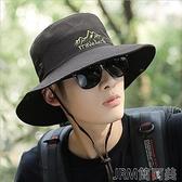 遮陽帽新款戶外釣魚帽子男士夏天登山遮陽帽沙灘防曬帽太陽帽夏季漁夫 快速出貨
