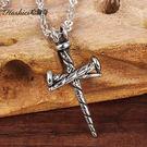 [哈飾奇]釘子十字架項鍊/316L不生鏽抗過敏/聖誕禮物/生日禮物/宗教【AKS997】單條價