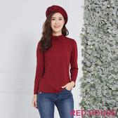 Red House 蕾赫斯-素面抽縐微高領上衣(共6色)