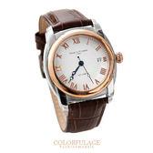 Valentino范倫鐵諾 羅馬數字南極光真皮手錶 柒彩年代【NE1055】
